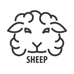 line icon of sheep