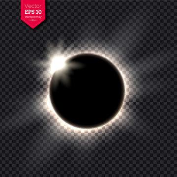 Vector illustration of full eclipse