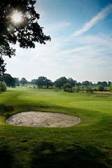 Golf course in Surrey, England, UK