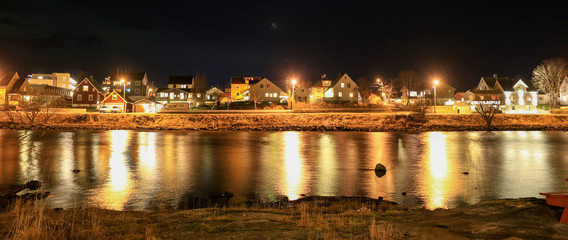 Night view by the sea