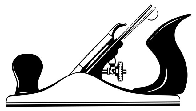 Tool for wood plane, jointer, jack-plane vector
