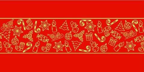 seamless new year pattern horizontal