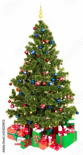 Christmas Tree With Presents Under It Stock Photo And Royalty Free