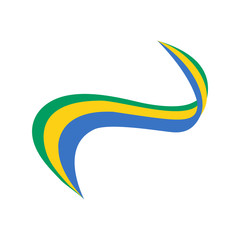 Ribbon in the color of the flag of Gabon