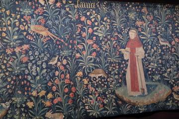 Wandteppich im Hôtel-Dieu in Beaune , Burgund