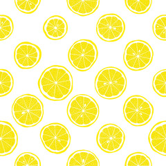 Seamless vector pattern with lemon slices