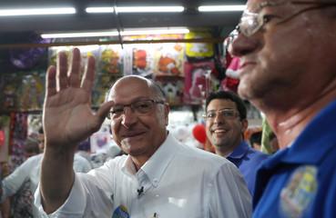 Presidential candidate Geraldo Alckmin attends a campaign rally in Rio de Janeiro