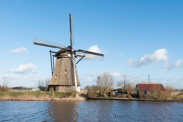 Windmill Overwaard no 8 in Kinderdijk