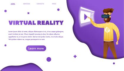 Virtual reality Web banner