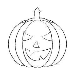 halloween pumpkin with happy face cartoon