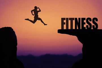 Sportlicher Mann mit Ziel Fitness