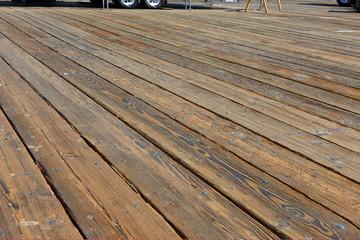 Close up of boardwalk