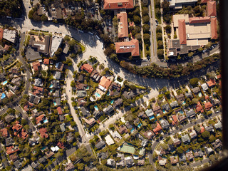 Aerial view suburbia