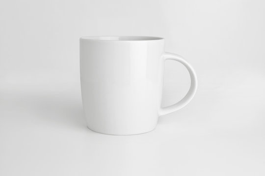 white mug on white background isolated with clipping path