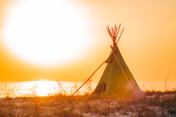 a photo of a tipi