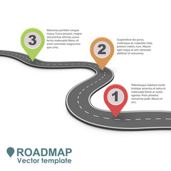 Abstract Business Roadmap Infographic