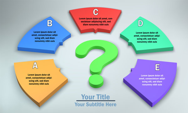 5 Options Infographic with Question Mark