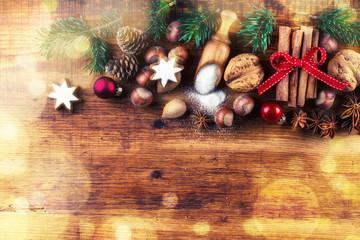 Christmas food flat lay