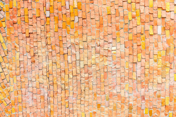 orange surface of Abstract colorful smalt mosaic with high resolution for background
