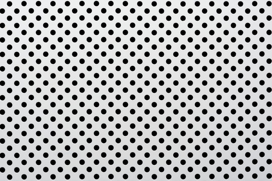 gray abstract background on based of metal, circles and shadows, texture of the white surface with a lot of round holes