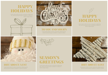 6 Winter Holiday Social Media Post Layouts