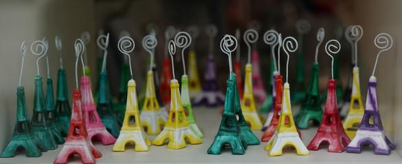 Many Eiffel Tower souvenirs in Paris