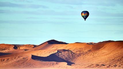 Hot air balloon ride on the desert.