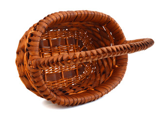 basket empty on white background