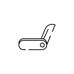 jackknife icon. Element of construction for mobile concept and web apps illustration. Thin line icon for website design and development, app development