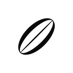 Rugby ball icon. Element of balls icon for mobile concept and web apps. Detailed Rugby ball icon can be used for web and mobile
