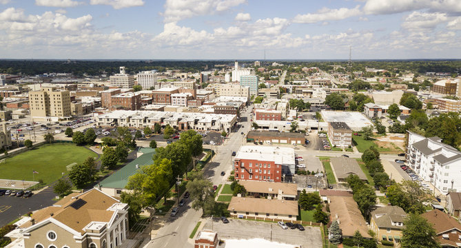 Aerial View Quaint Charming and Humble Over Springfield Missouri