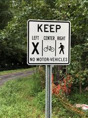 Footpath trail sign