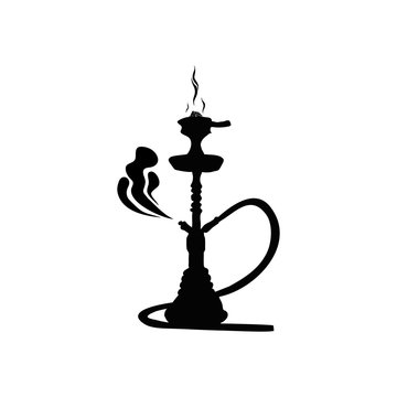 Hookah silhouette for design icon