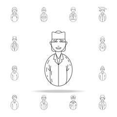 avatar nurse icon. Avatars icons universal set for web and mobile