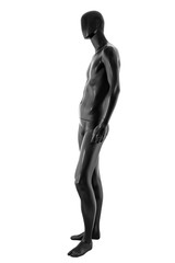 Gloss color mannequin male isolated