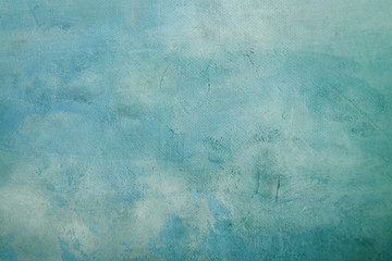 Blue abstract canvas background or texture