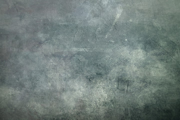 Gray grungy canvas background or texture