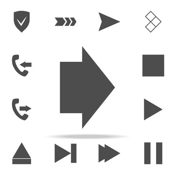 wide arrow icon. web icons universal set for web and mobile