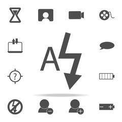 autoflash sign icon. web icons universal set for web and mobile