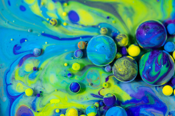 Colorful Paint Bubbles Abstract