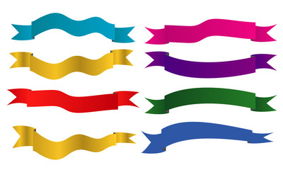 collection of ribbon banner vector