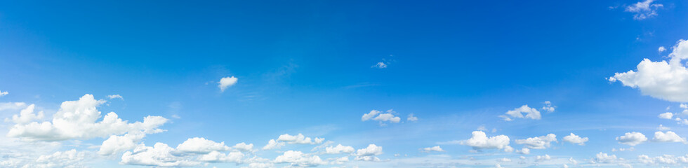 Panorama blue sky and cloud with daylight natural background.