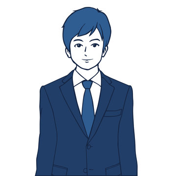 スーツを着た若手ビジネスマンのイラスト