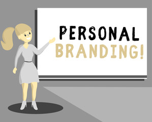 Conceptual hand writing showing Personal Branding. Business photo text Practice of People Marketing themselves Image as Brands.