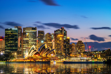Canvas Prints Oceania Sydney Opera House in Sydney, Australia. The Sydney Opera House hosts over 1,500 performances each year that are attended by approximately 1.2 million people.