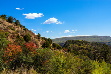 Autumn colors in Black Canyon of the Gunnison National Park in Colorado