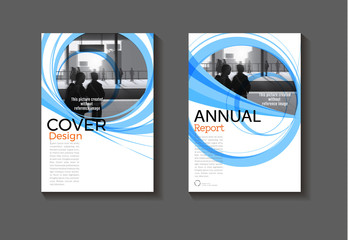 blue template layout cover abstract background design modern book,annual report, magazine and flyer Vector a4