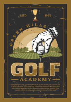 Golf professional sport retro poster