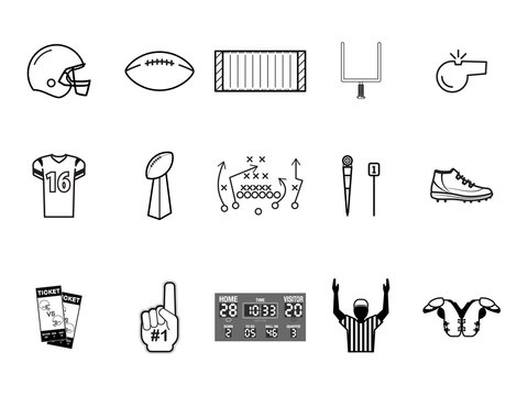 Black and White Football Vectors