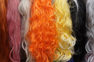 plastic color hair texture